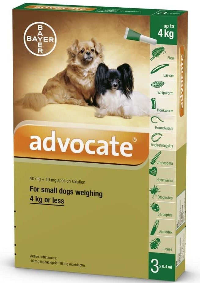 Bayer Advocate Dog Spot On - up to 4 kg