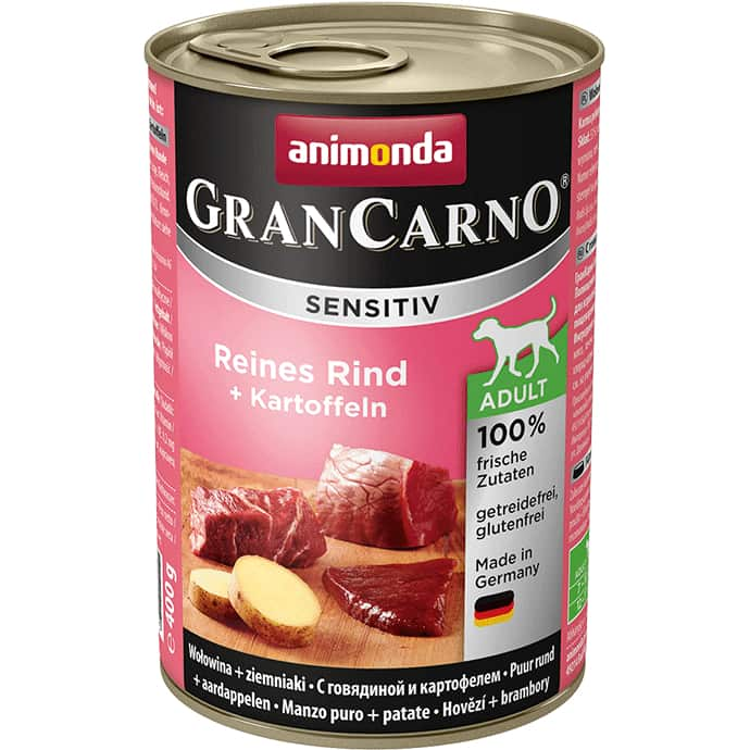 Animonda GranCarno Sensitiv Adult pure beef + potatoes